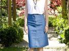 джинсовая юбка с белой блузкой
