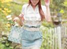 джинсовая юбка с белой рубашкой