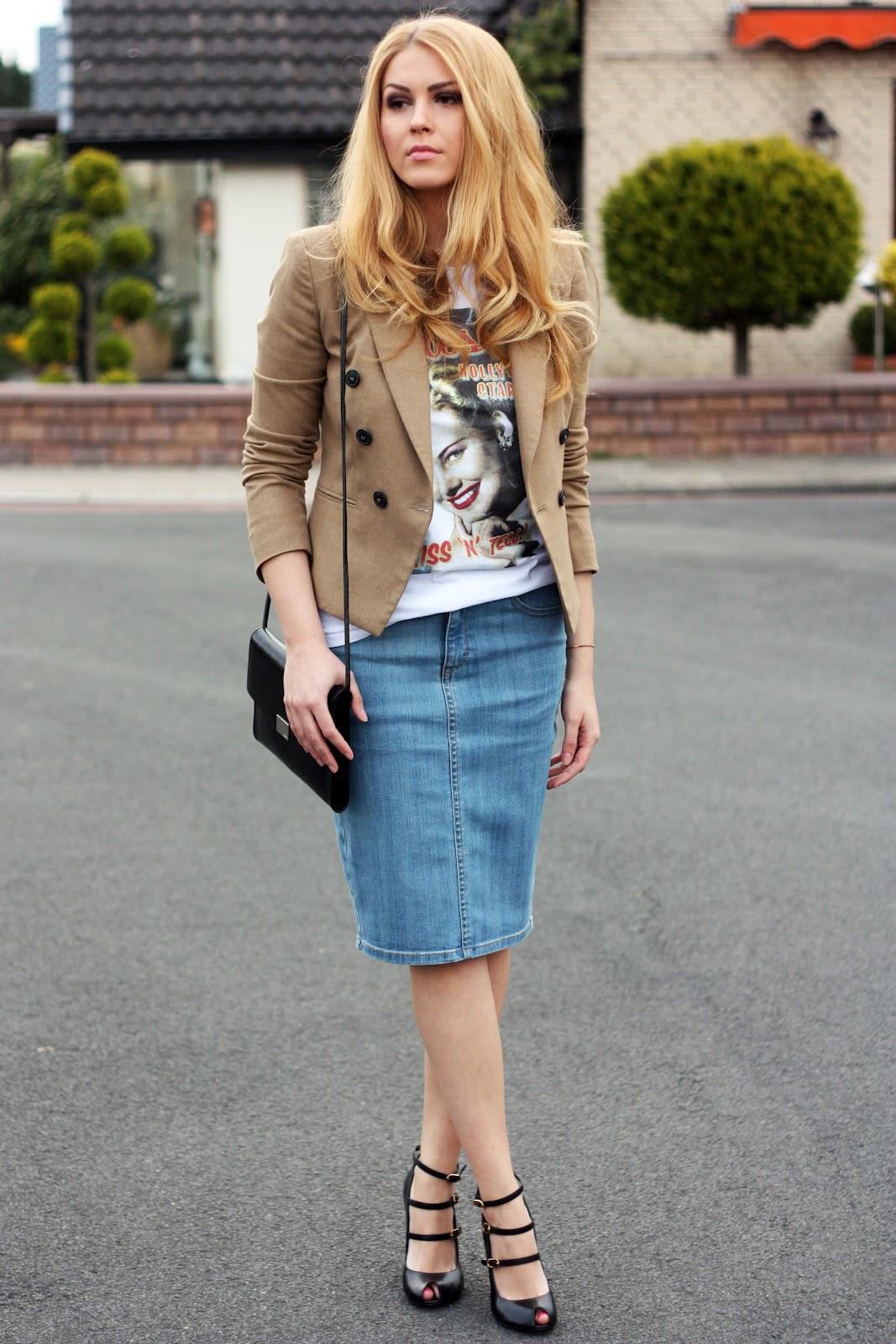 Дорогая джинсовая юбка