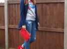 красные туфли с джинсами