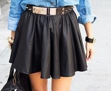 с чем носить юбку колокол