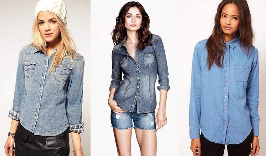 Надевая джинсовую рубашку, не забудь аксессуары!