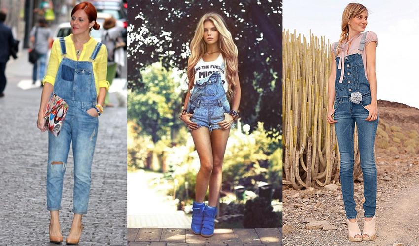 В первую очередь джинсовые комбинезоны советуем носить стройным и высоким