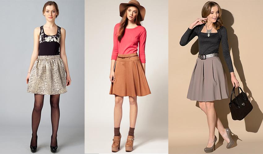 такие разные юбки-колокол