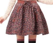 с чем носить юбку-колокол