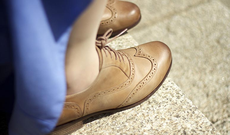 Женские ботинки броги лучше не носить с длинными брюками