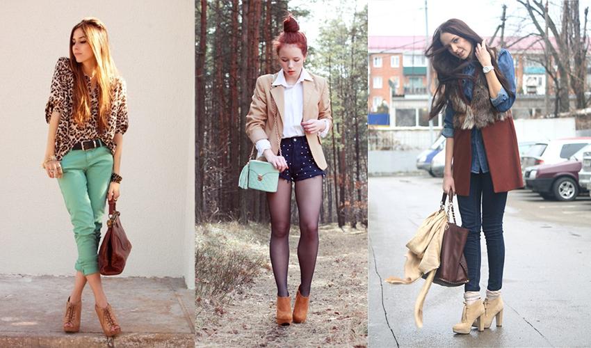 При грамотном подходе к ботильонам можно подобрать любую одежду