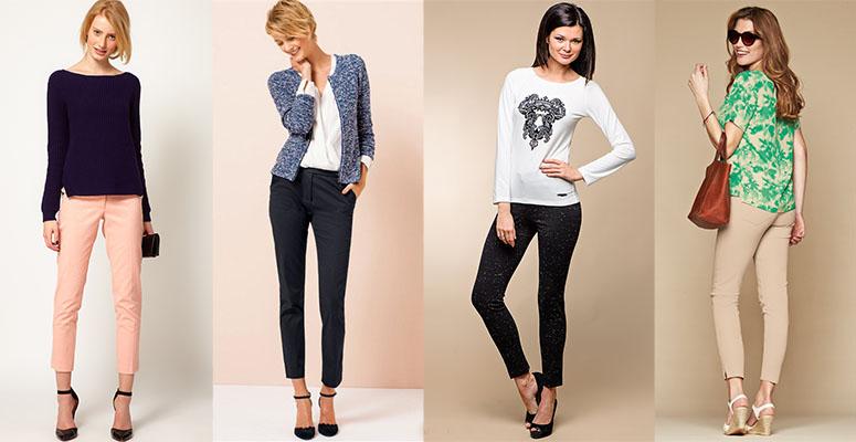 Белые брюки женские