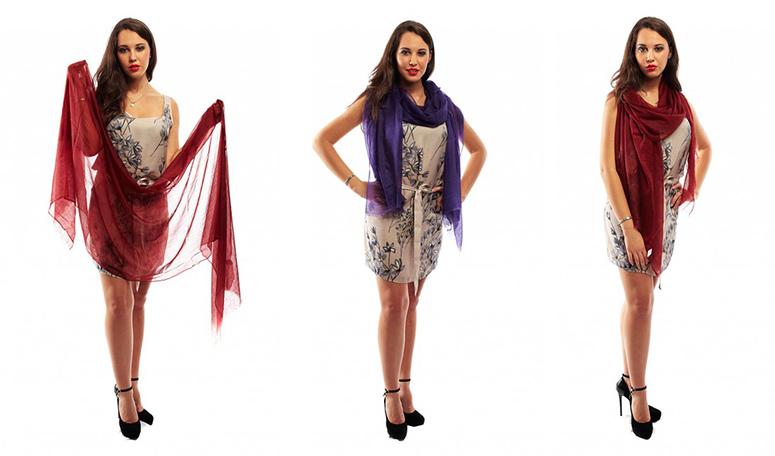 Как надеть палантин от платья