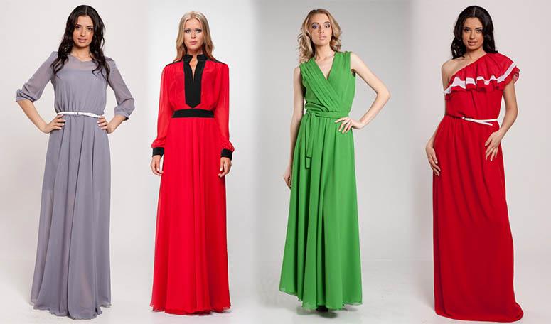 красное, зеленое платья
