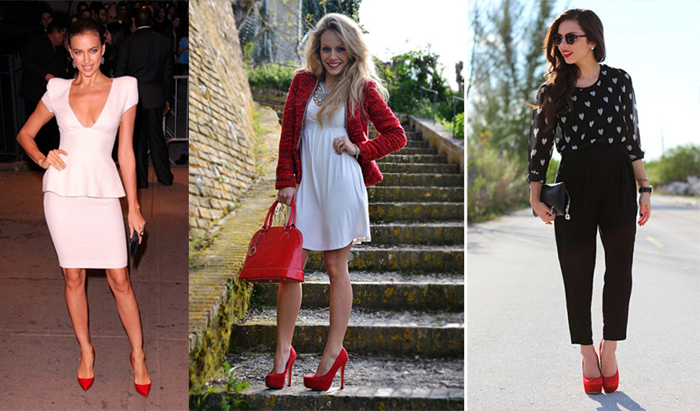 Пара красных туфель дополнит любой наряд