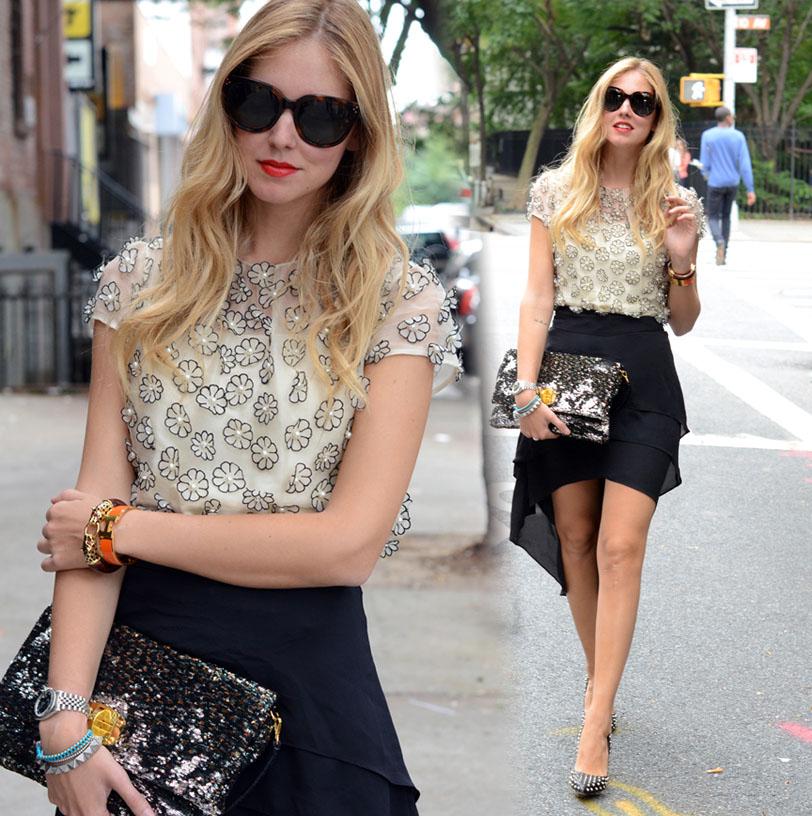 Асимметричная юбка с чем носить