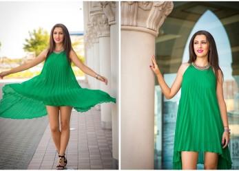 Анджелина Джоли тоже любит платья зеленого цвета