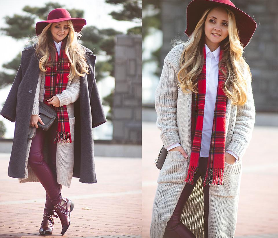 Пальто оверсайз зимой