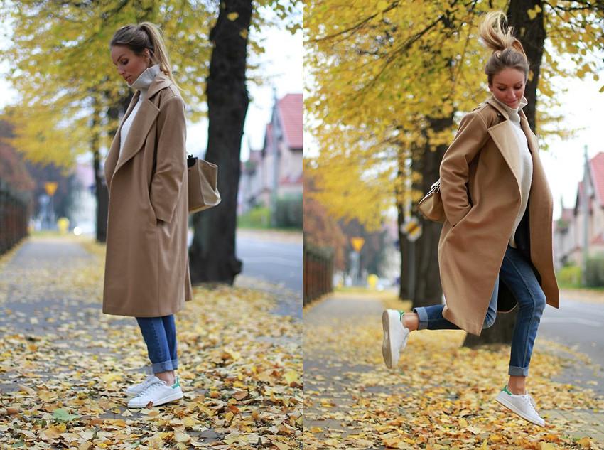 Пальто оверсайз осенью