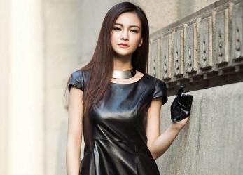 Как выглядеть стильно в кожаном платье